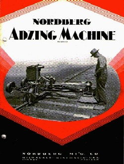Front page of sales brochure for Adzing Machine